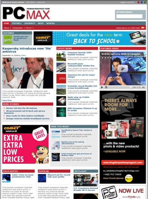100+ Magazine WordPress Themes :Cool wordpress magazine templates ...