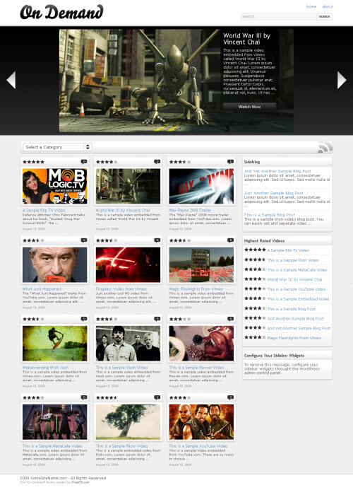 On Demand WordPress Video Theme