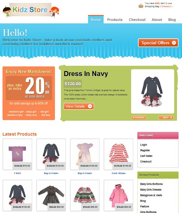 2010 New e-commerce WordPress Theme KIDS STORE picture