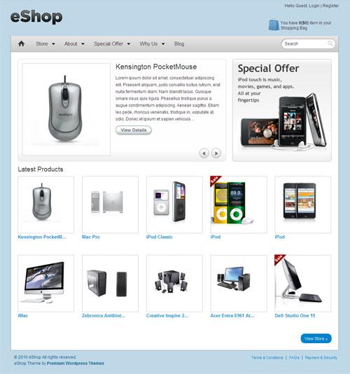 Wordpress eShop Theme Download picture