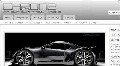 Chrome WordPress Theme