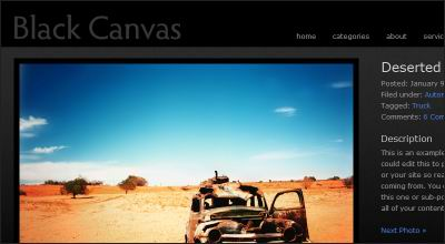 Black Canvas WordPress Theme
