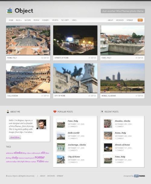 Multimedia WordPress Template Object Theme picture