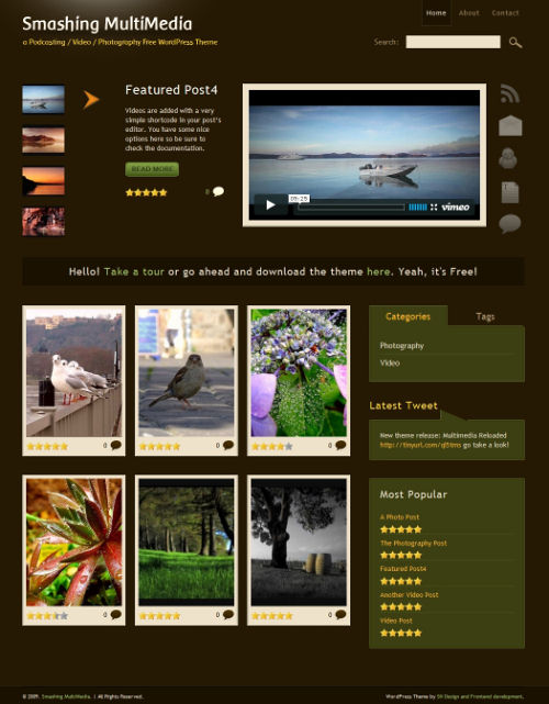 Theme-small in Free Podcasting, Video and Photography WordPress  Theme