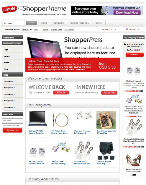 eCommerce WordPress Templates ShopperPress