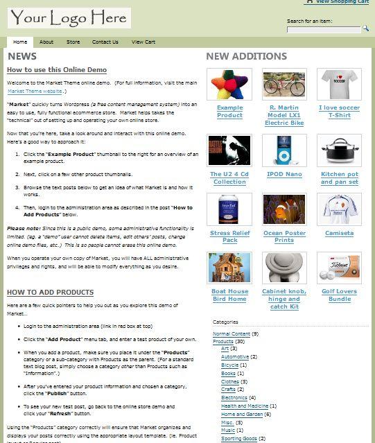 markettheme wordpress theme ecommerce