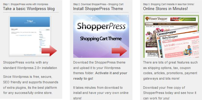 store wordpress theme shopping cart