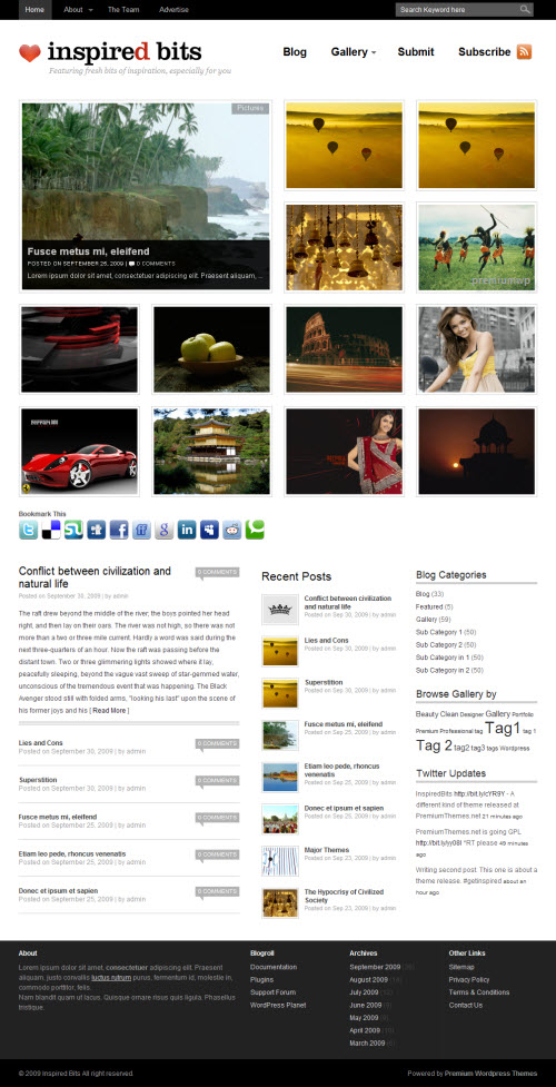 Inspired Bits Premium WordPress Theme