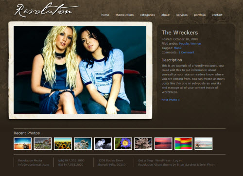 revolution album wordpress theme