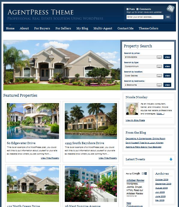 Real Estate AgentPress Theme picture