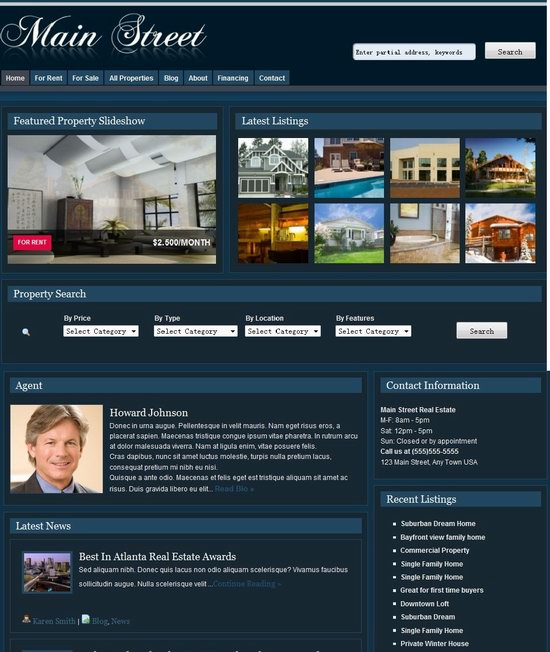 New Real Estate WordPress Theme Main Street picture