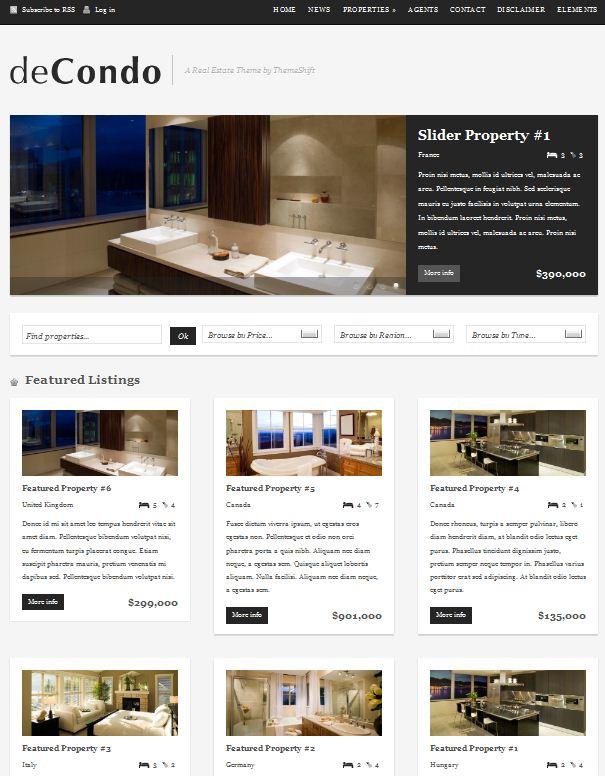 Furniture WordPress Theme deCondo picture