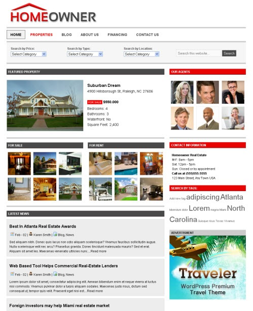 Cool Real Estate WordPress Theme Homeowner picture