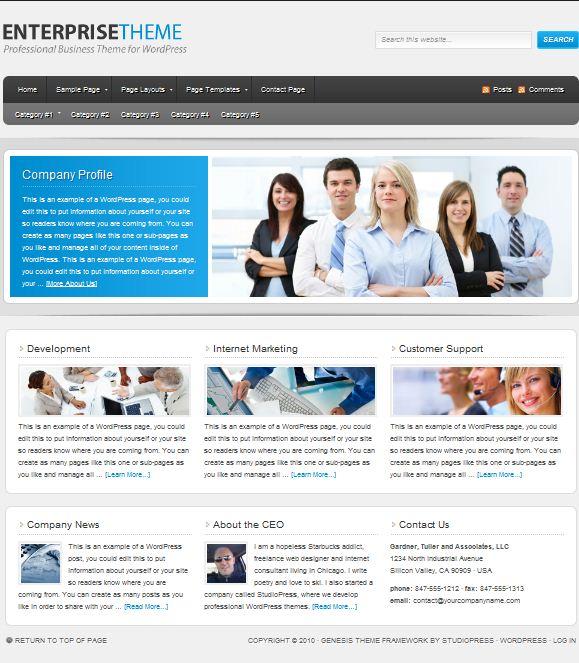 Studiopress Enterprise Child Theme picture