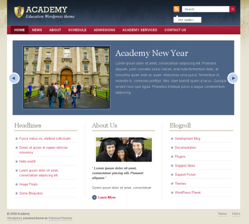 Education CMS WordPress Theme Academy picture