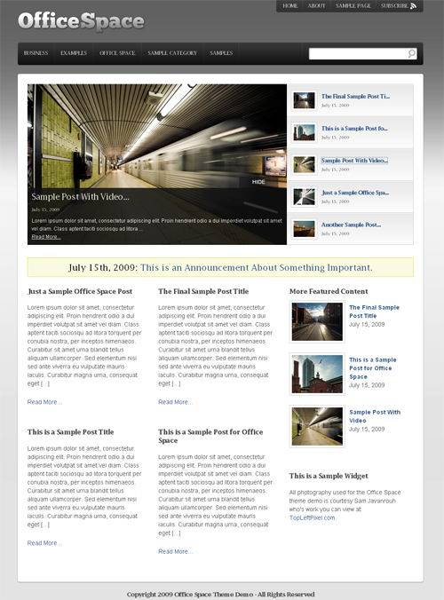 Press75 CMS WordPress Theme Office Space picture