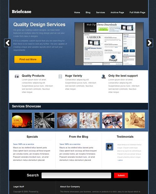 Stylish NEW CMS WordPress Theme Briefcase picture