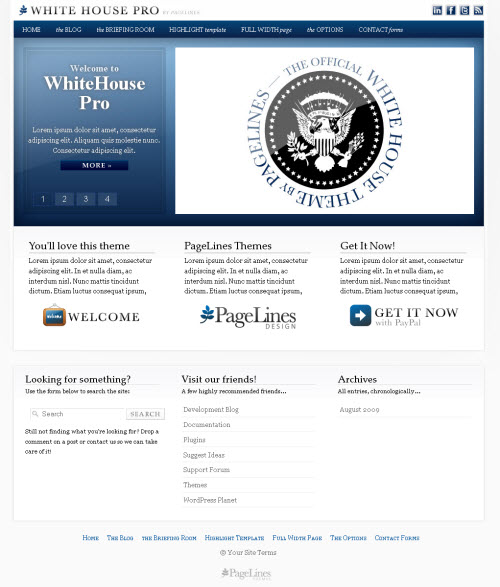 Elegant CMS Theme WhiteHouse Pro picture