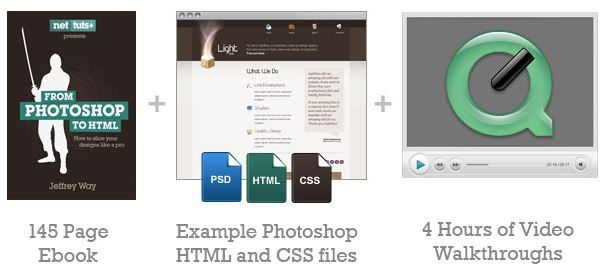 Photoshop to HTML discount code