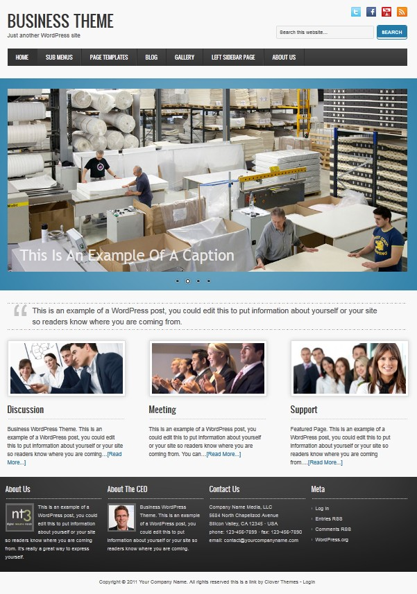cloverthemes business wordpress theme