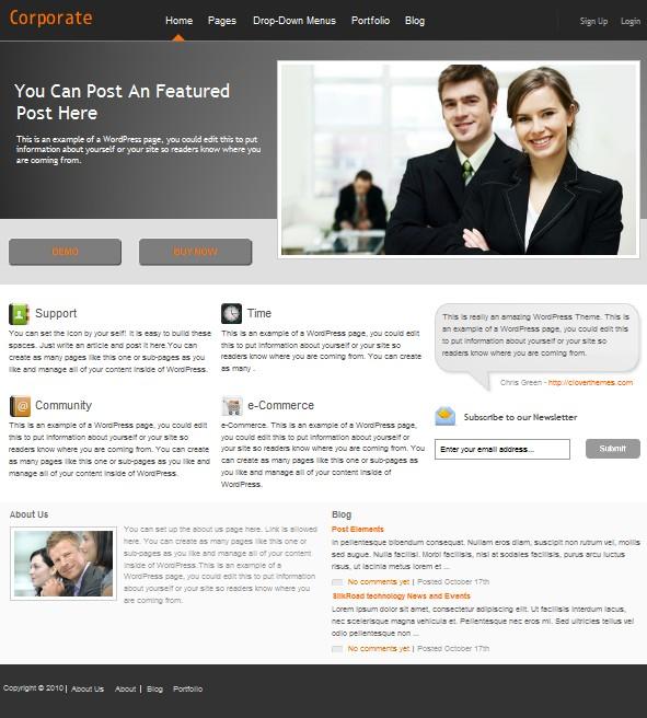 cms business wordpress theme