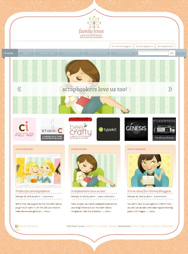 cute pink lovely wordpress theme