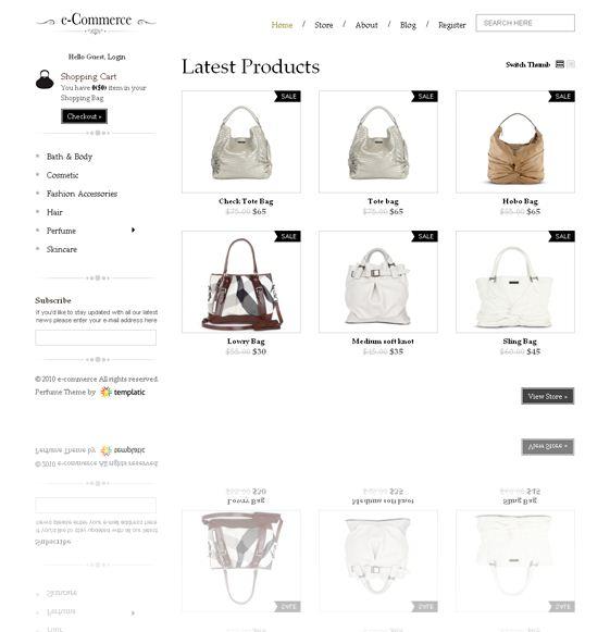 templatic E-commerce wordpress theme picture