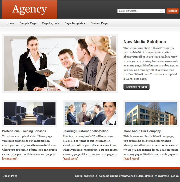 studiopress agency cms wodpress theme picture