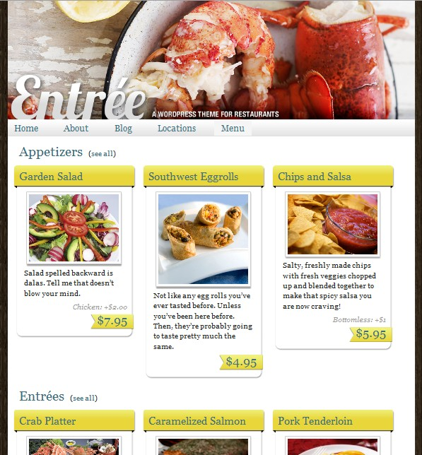 ithemes builder restaurant theme