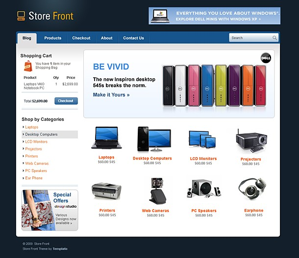 Store Wordpress Theme for Sales! CMS Store Website Template - Dobeweb