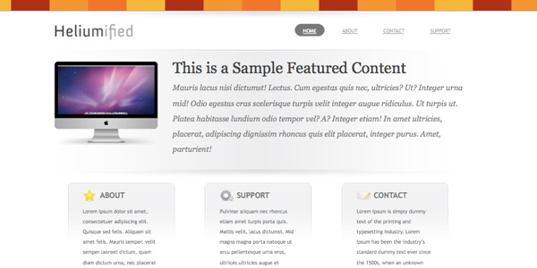 Heliumified 20 Excellent Free WordPress 3.0 Themes