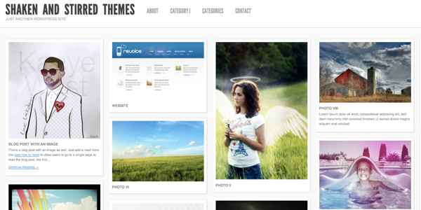 ShakenGrid 20 Excellent Free WordPress 3.0 Themes