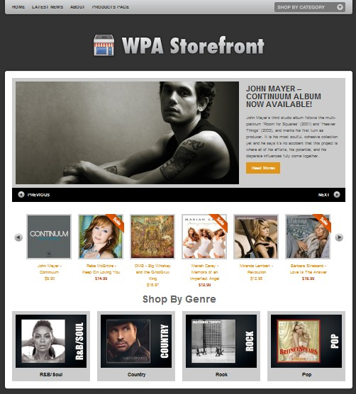 WPA Storefront - The Ultimate WP-E-Commerce Theme