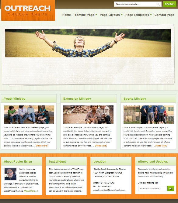 cms corporate wordpress themes