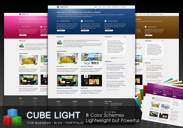 cubelight company wordpress theme