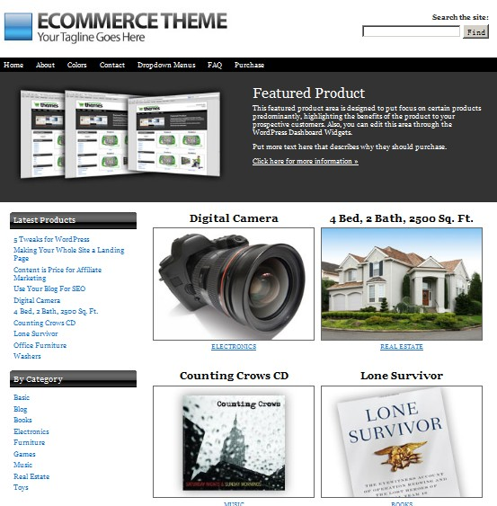 ecommerce theme from itheme
