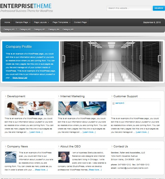 enterprise wordpress themes