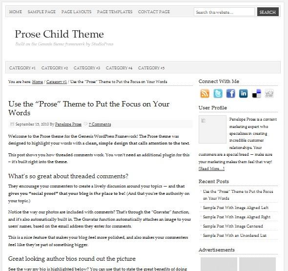 Simple Clean Minimal WordPress Theme from StudioPress – Dobeweb