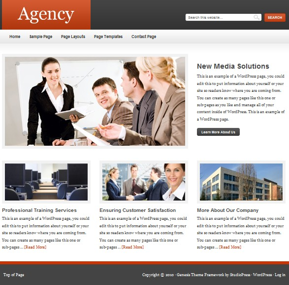 studiopress agency cms theme