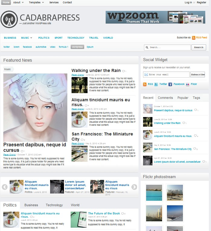 magazine wordpress theme cadabrapress