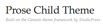 StudioPress Prose Theme Review
