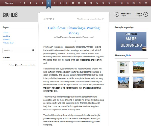 book wordpress themes