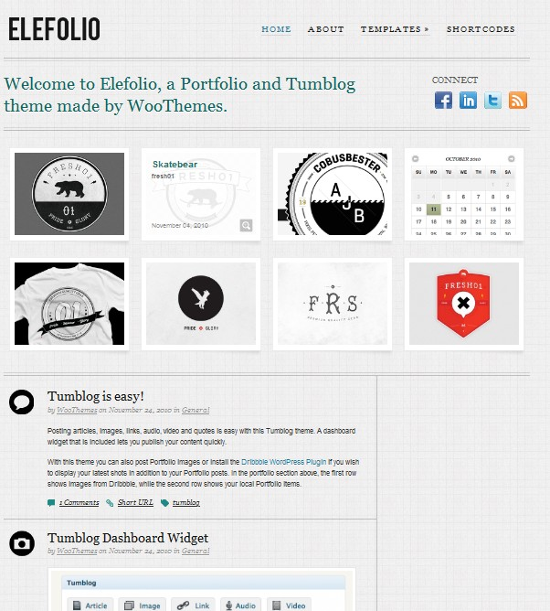 elefolio portfolio wordpress theme