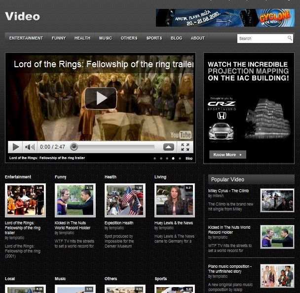free video wordpress theme