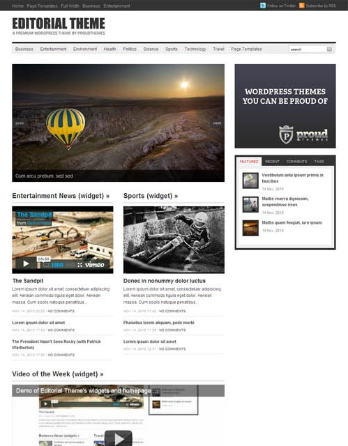 video magazine wordpress theme editorial