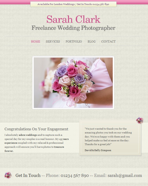 wedding wordpress theme photographers