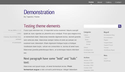 Sm WordPress Theme 32 in 100 Free High Quality WordPress Themes: 2010 Edition
