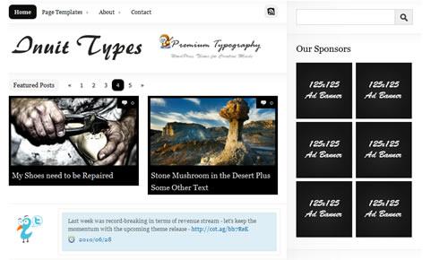 Sm WordPress Theme 34 in 100 Free High Quality WordPress Themes: 2010 Edition