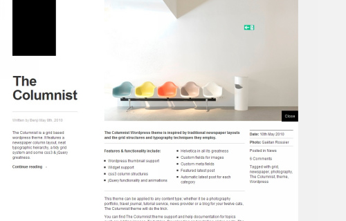 Wordpress-120 in 100 Free High Quality WordPress Themes: 2010 Edition