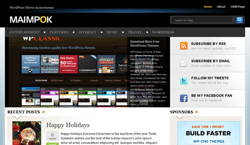 Sm WordPress Theme 26 in 100 Free High Quality WordPress Themes: 2010 Edition